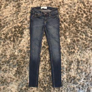 Dark/Medium Wash Hollister Super Skinny Jeans!